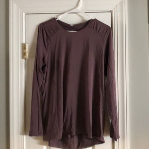 Women's plum Lululemon workout top size 12